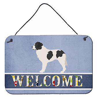Carolines Treasures  BB8331DS812 Landseer Welcome Wall or Door Hanging Prints