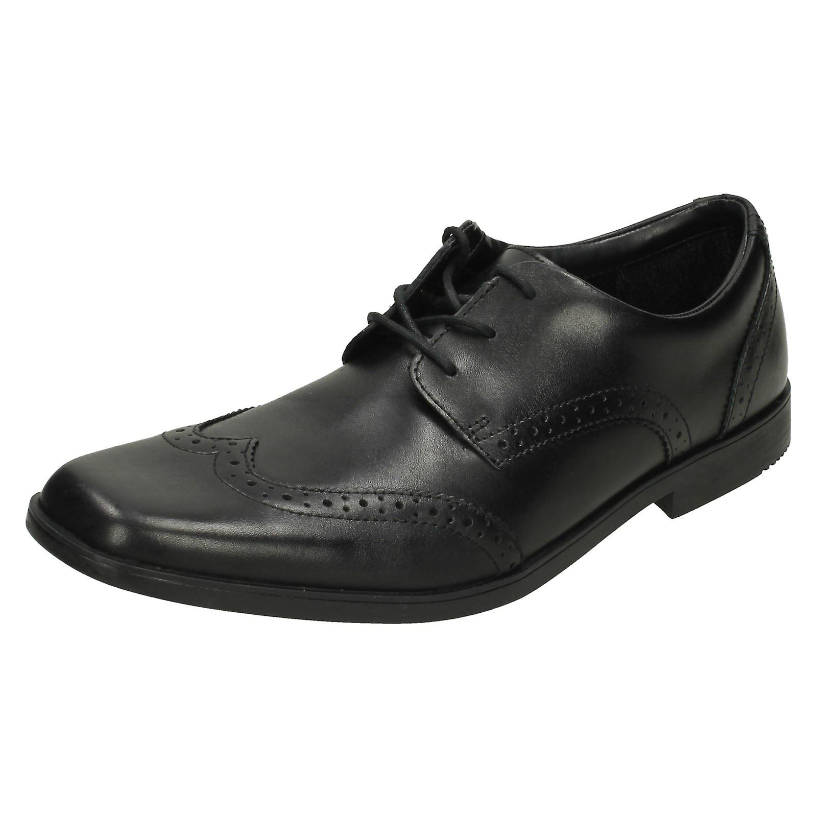 Seniors garçons démarrageleg de Hoxton de chaussures Clarks école marche