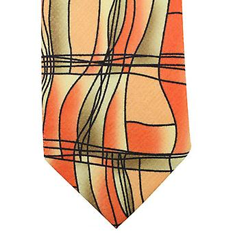 Sorrento Abstract Printed Tie - Orange/Green/Black