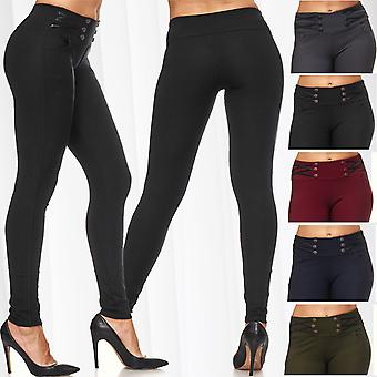 Ladies of biker Treggings leather sexy trousers of skinny jeans stretch skinny waist Jeggings