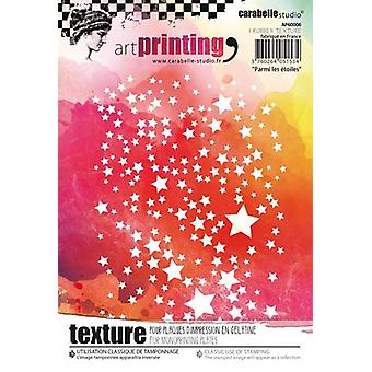 Carabelle Studio Art Printing A6 Rubber Texture Plate-Among The Stars AP60006
