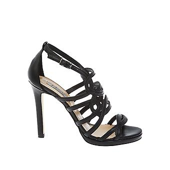 Donnapiu' 52921PADENERO black leather ladies sandals