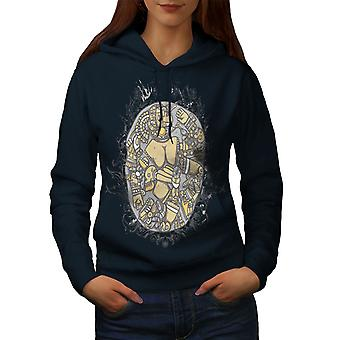 Mosaic Art Random Fashion Women NavyHoodie | Wellcoda