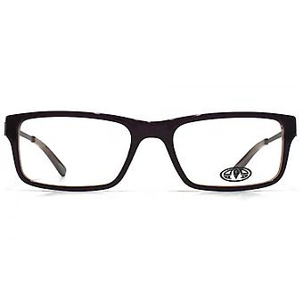 Animal Samson Square Rectangle Acetate Glasses In Brown