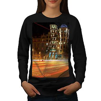 Bâtiment de Art Prague femmes BlackSweatshirt | Wellcoda