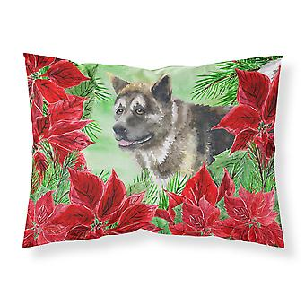 American Akita Poinsettas Fabric Standard Pillowcase