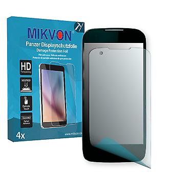 Kazam Thunder Q4.5 Screen Protector - Mikvon Armor Screen Protector (Retail Package with accessories)