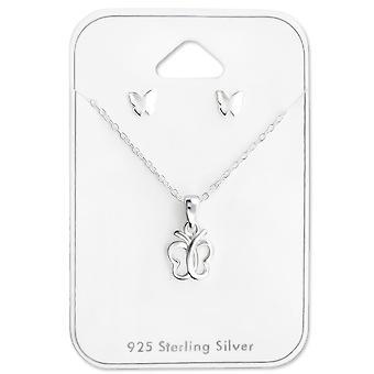 Butterfly - 925 Sterling sølv sæt - W28964X