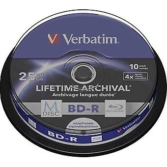 Blank M-Disc Blu-ray DVD 25 GB Verbatim 43825 10 pc(s)