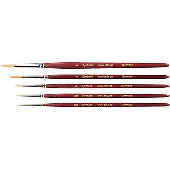 Elita Toray-Synthetic Bristles Artists' Brush, 5 pieces Thickness 5/0, 3/0, 0,3 an