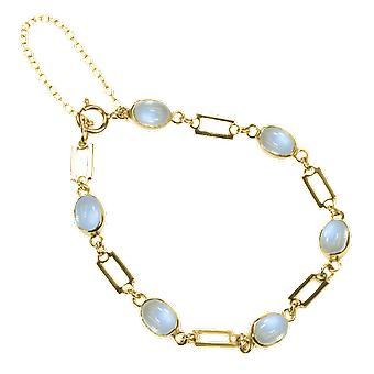 Dames Shipton en Co exclusief 9ct Yellow Gold And Moonstone armband AY1171MS