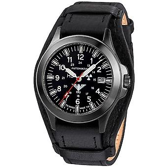KHS watches mens watch black platoon automatic KHS. BPA. R