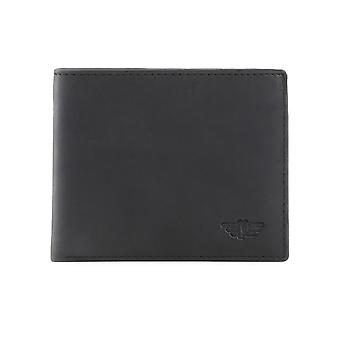 Police Men Wallets Black