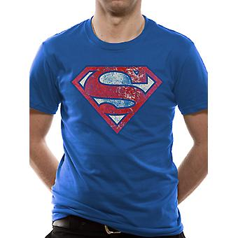 Superman - Logo Very Distressed (Unisex)  T-Shirt