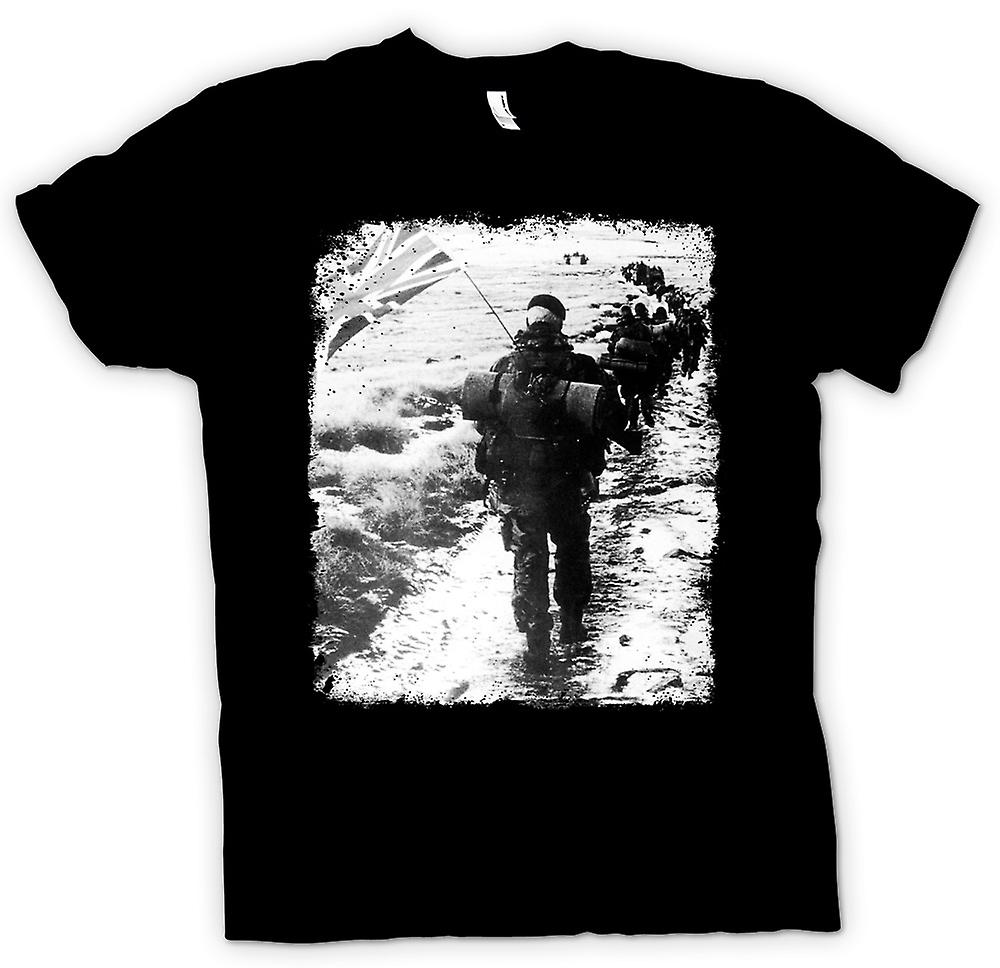 Mens T-shirt-Royal Marines Falklands Yomp