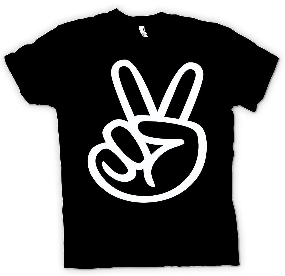 Mens T-shirt - Frieden-Finger - Rock
