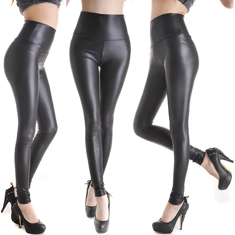 Waooh - Fashion - long leather leggings chic style