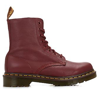 Dr. Martens Womens Cherry Red Pascal Virginia Leather Boots