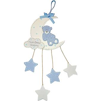 Hush Baby Sleeping Plaque - Blue - Boy