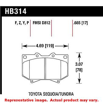 Hawk Truck/SUV Brake Pads HB314P.665 Fits:TOYOTA 2001 - 2002 SEQUOIA  Position: