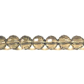 Strand 70+ Pale Taupe Czech Crystal Glass 6mm Faceted Round Beads GC9913-1
