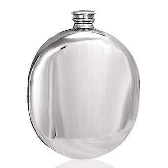 Plain Polished Wedge Sporran Pewter Flask - 6oz