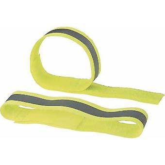 Hook-and-loop tape with reflector, sew-on Hook and loop pad (L x W) 400 mm x 30 mm Yellow reflecting Fastech 788-777KC 2 pc(s)