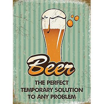 Beer Solution To Any Problem Fridge Magnet