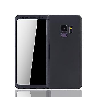 Samsung Galaxy S9 Handyhülle Schutzcase Full Cover 360 Displayschutz Folie Schwarz