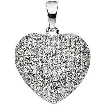 Pendant heart 925 sterling silver with cubic zirconia heart pendant Silver Pendant