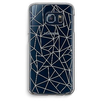 Samsung Galaxy S6 Edge Transparent Case (Soft) - Geometric lines white