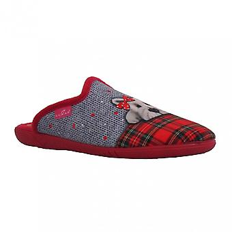 Lunar Womens Slipper Scotty Red