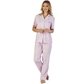Slenderella PJ2107 Frauen Wiese Jersey Floral Pyjama Pyjama Set