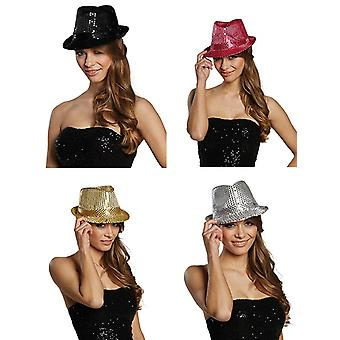 Sequin hat with flashing light new year's Eve Hat accessories Halloween Carnival