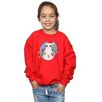 Star Wars Girls The Last Jedi Porg Christmas Lights Sweatshirt