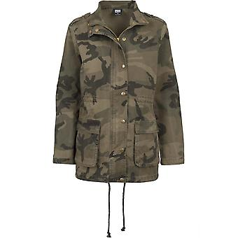 Urban classics ladies parka Camo cotton