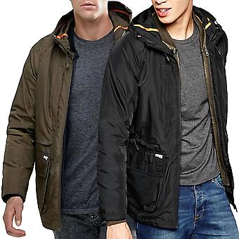 Puffa Mens Billinghay Two-In-One Lightweight Padded Hooded Jacket Coat