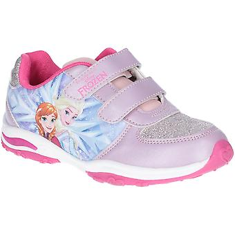 Leomil Girls Frozen Elsa and Anna Light Up Sparkle Trainers