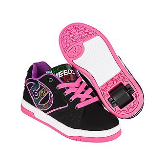 Heelys Black-Pink-Purple Propel 2.0 Girls One Wheel Shoe