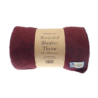Country Club Recycled Blanket Throw, Red