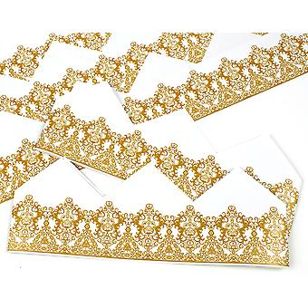 Gold Filigree Tiara Adjustable Paper Hats for Crackers