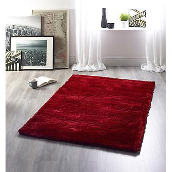 Shimmer Red  Rectangle Rugs Plain/Nearly Plain Rugs