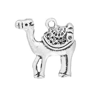 Packet 10 x Antique Silver Tibetan 23mm Camel Charm/Pendant ZX04955