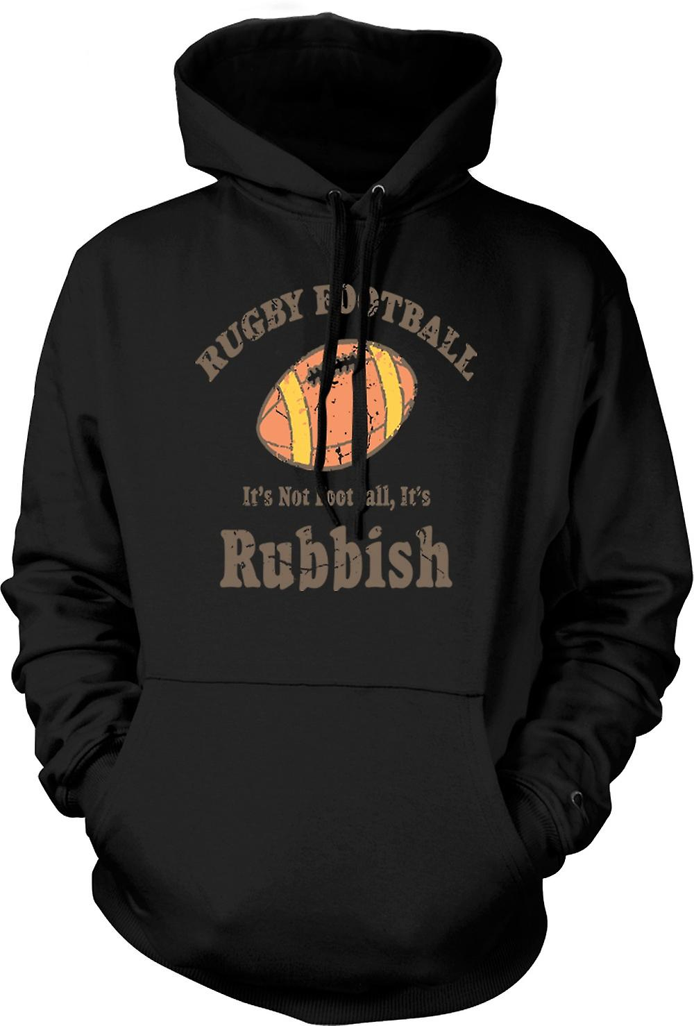Mens Hoodie - Rugby Football Rubbish - Funny