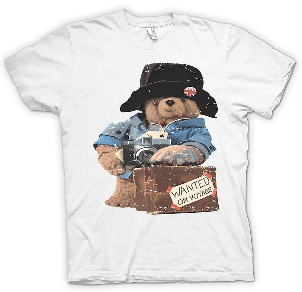 Womens T-shirt - Paddington Bear - Wanted On Voyage
