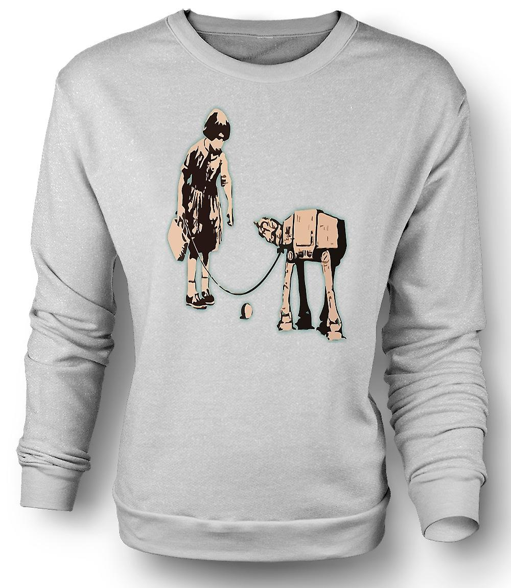Mens Sweatshirt Banksy graffitikonst - Fetch