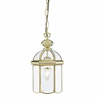 5131PB Solid Polished Brass 1 Light Lantern