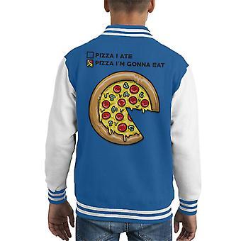 Pizza cirkeldiagram Kid's Varsity Jacket