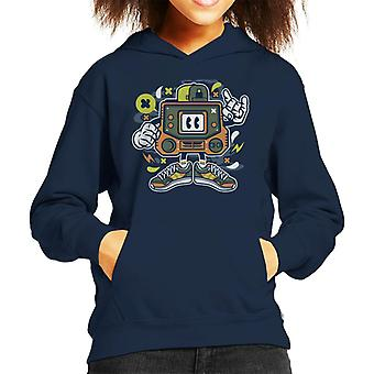 Retro Gamer Arcade Man Kid's Hooded Sweatshirt