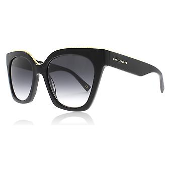 Marc Jacobs MJ162/S 8079O Black Grey MJ162/S Square Sunglasses Lens Category 3 Size 52mm